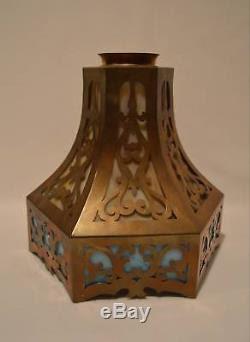 Antique Victorian Brass & Slag Glass Light Fixture Lamp ...