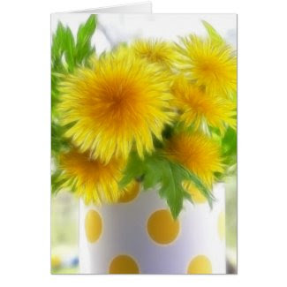 Spring Dandelion Bouquet card
