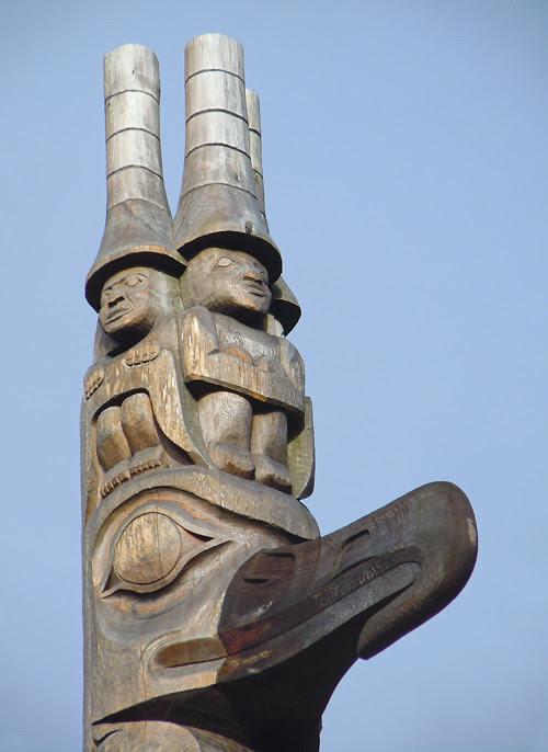 watchmen atop the Unity Pole, Kasaan, Alaska