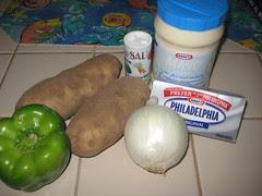 Ensalada de Papas ingredients - simple