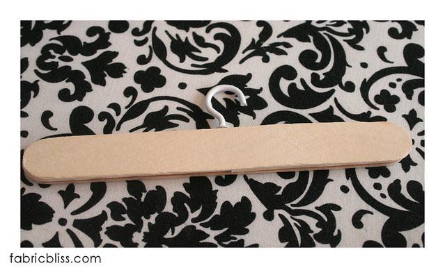 doll hangers -  glue top craft stick