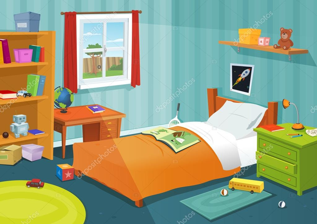 Some Kid Bedroom — Stock Vector © benchyb 15842325