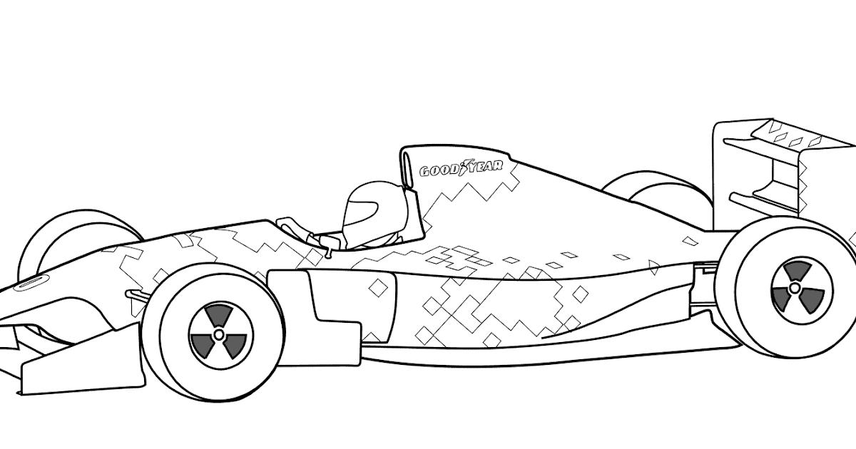 ausmalbilder rennauto formel 1  malvorlagen