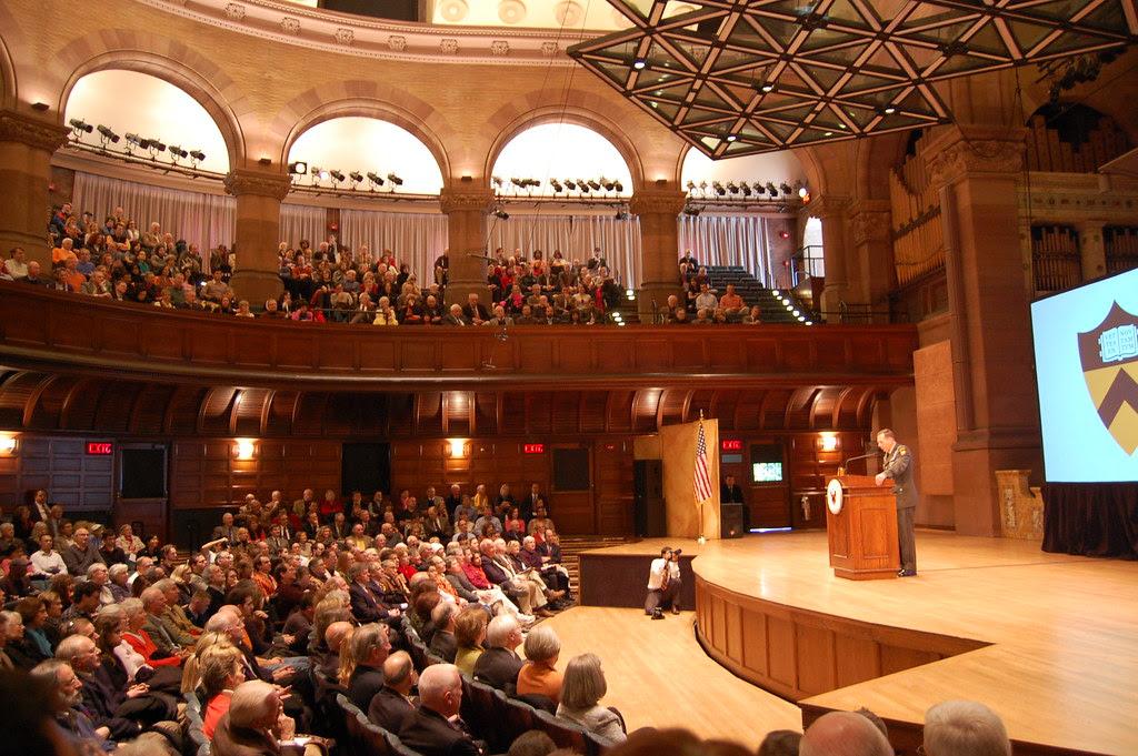 David Petraeus, speaking in Alexander Hall