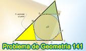 Problema de Geometría 141. Triangulo, Circunferencia Inscrita, Tangente, Paralela, Circunradios, Perímetros.