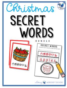Secret Words: Christmas (Phonics Codes) Whimsy Workshop Teaching