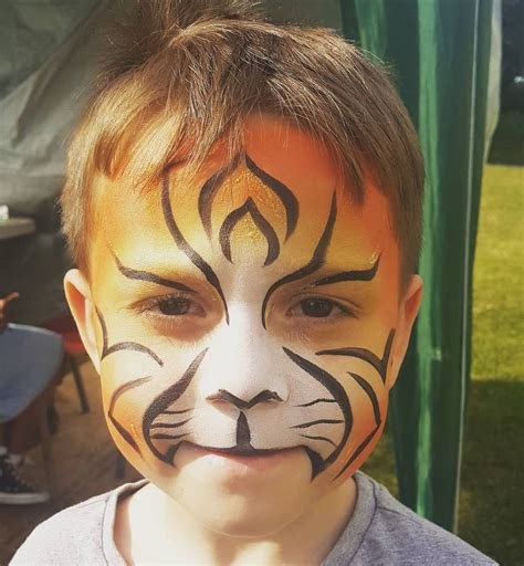 tiger tigerface tigertattoo facepainting event facepainter