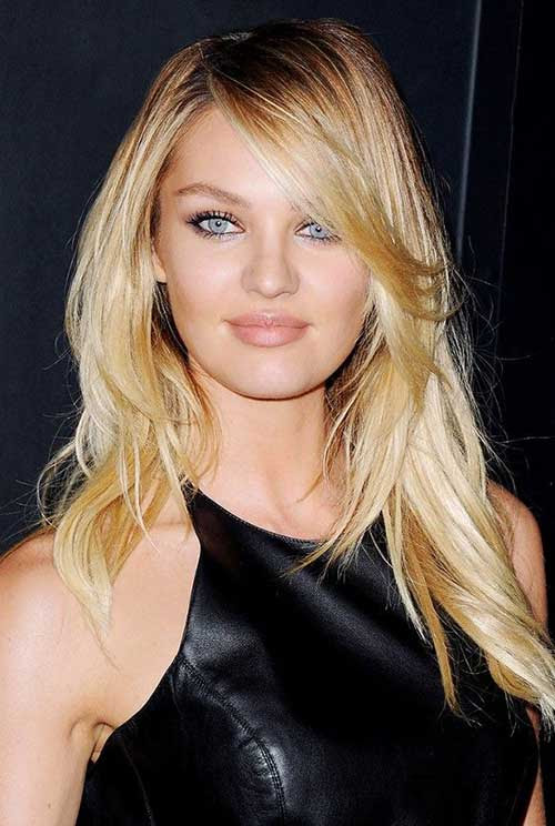 15+ Long Layers with Side Bangs | Hairstyles & Haircuts ...