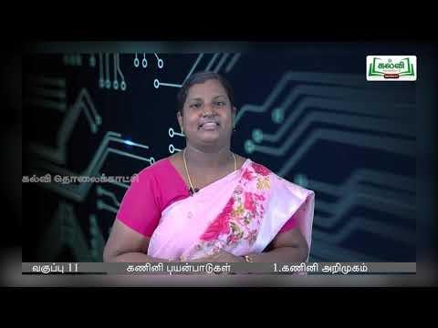 11th Computer Application கணினி அறிமுகம் அத்தியாயம் 1 பகுதி 1 Kalvi TV
