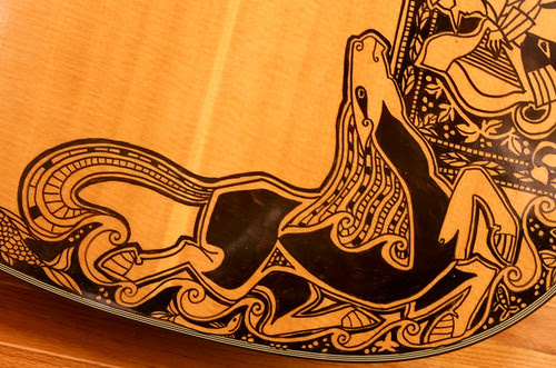 The Sharpie Guitar - detail of horse