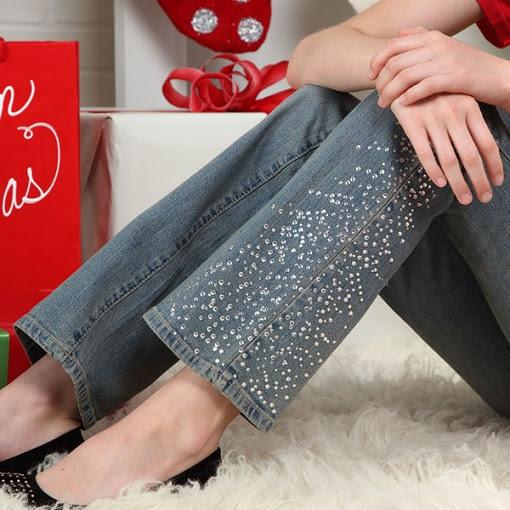 Customizar pantalones con pedrería