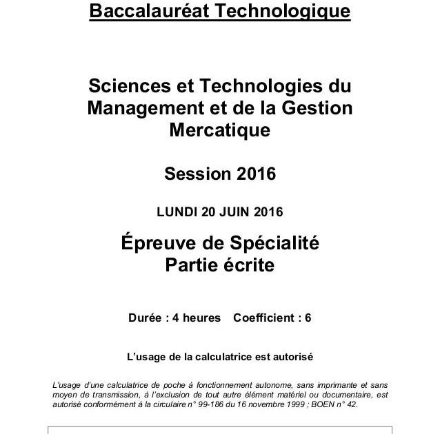 Dossier Science De Gestion Stmg Exemple - Le Meilleur Exemple
