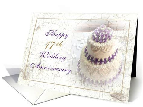 17th Anniversary Wedding Cake card (526760)