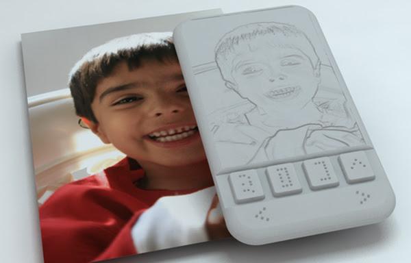 Smartphone para deficientes visuais permitira sentir, com a ponta dos dedos, expressões faciais durante chamadas de vídeo. Foto: Sumit Dagar