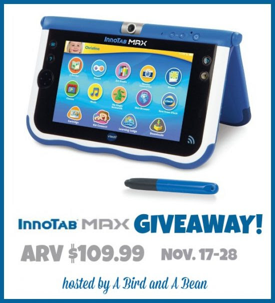 Enter the Innotab Max Giveaway. Ends 11/28.
