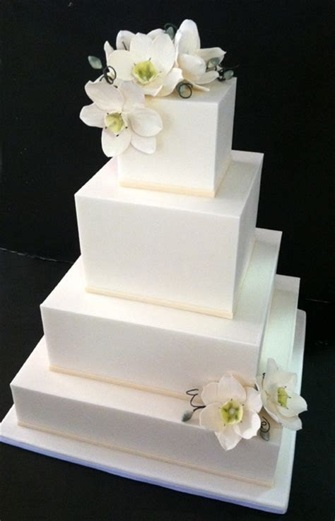 25  Best Ideas about White Square Wedding Cakes on