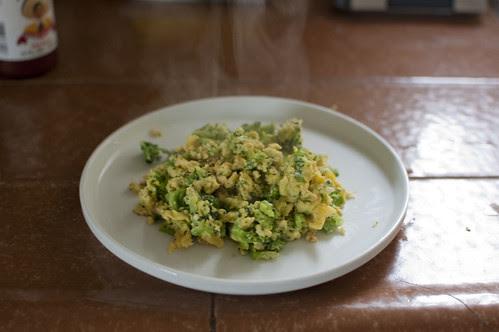 eggs + broccoli