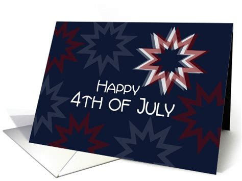 Military Happy 4th of July Patriotic Red White Blue Stars