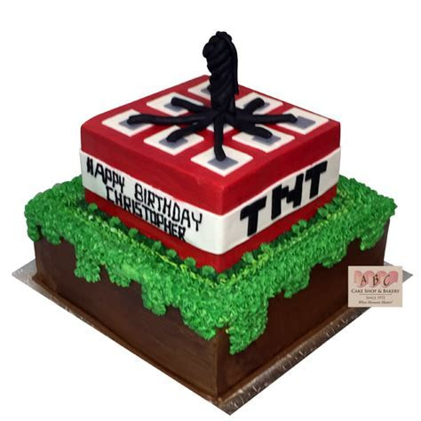 (1776) Minecraft TNT Birthday Cake   ABC Cake Shop & Bakery