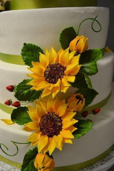 23 best Gumpaste Fondant Sunflowers images on Pinterest