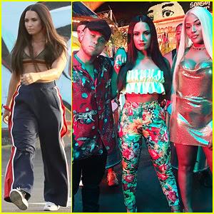 Demi Lovato & Jax Jones Start Filming 'Instruction' Music Video