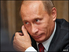 Vladimir Putin, pictured 25 Sept