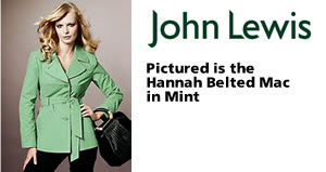 Hannah Belted Mac in Mint from John Lewis