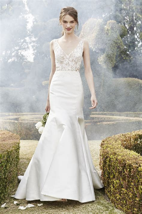 Sleek Fit And Flare Wedding Dress   Kleinfeld Bridal