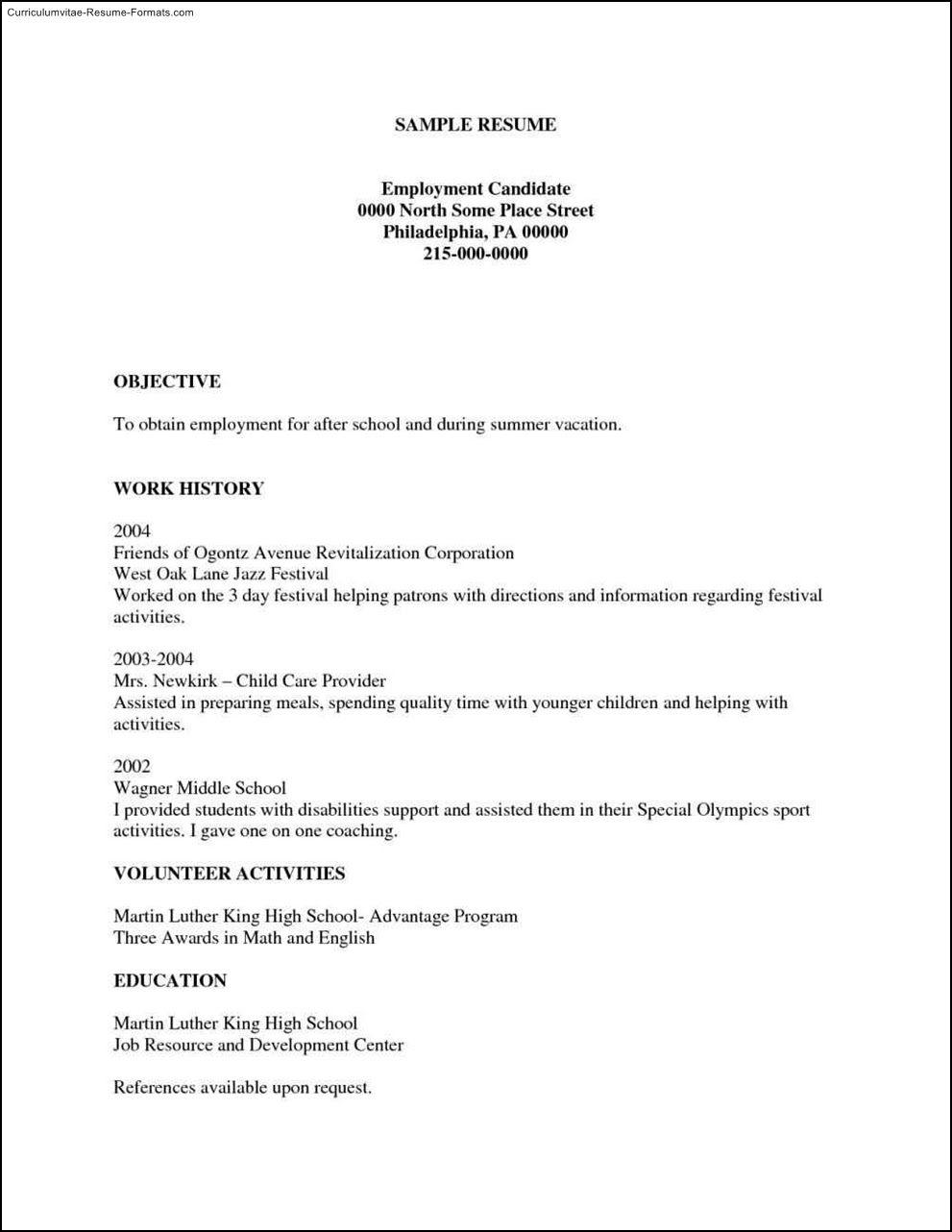 Free Printable Resumes Templates  Free Samples , Examples  Format Resume / Curruculum Vitae