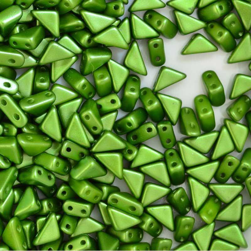 27888100-18 Shaped Beads - 2 hole Tango - Pastel Olivine