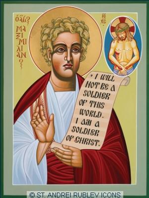 img ST. MAXIMILIAN of Tebesa, Martyr