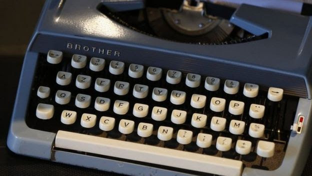 Old AZERTY typewriter