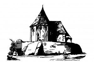 Le bâtiment tel qu'il était visible au 19e siècle