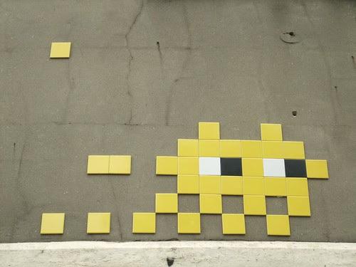 london street art: super cute invader