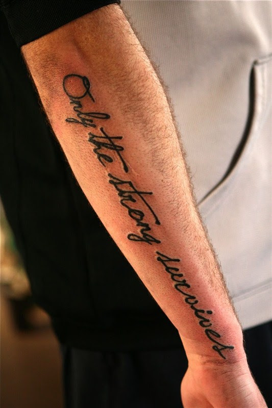 Quote Only The Strong Survive Tattoo