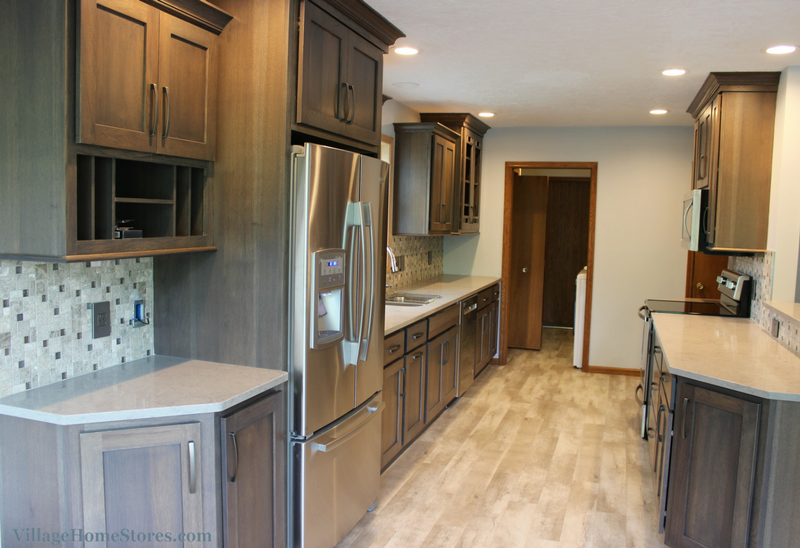 Gray Galley Kitchen Remodel In Bettendorf Ia