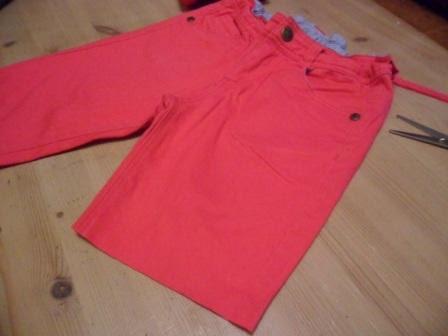 pantalon cortado
