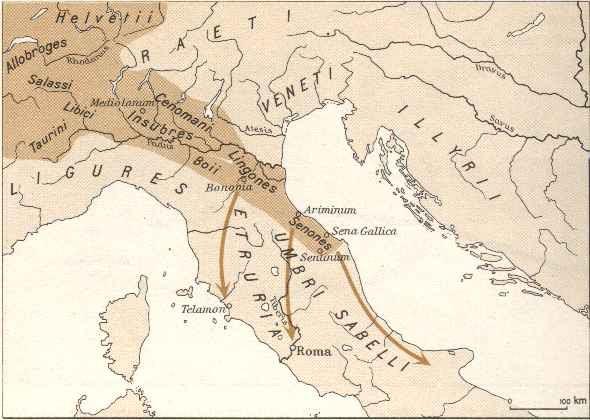 Espansione celtica in italia