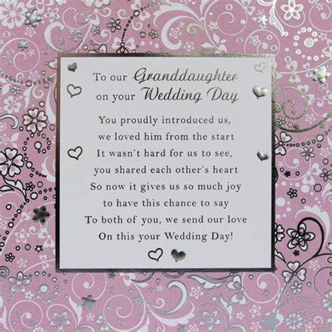 To Our GrandDaughter Wedding Day Card   eBay