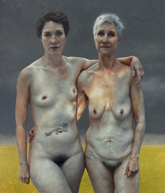 Jumanji e Gwen - óleo sobre linho, 84 x 72 polegadas