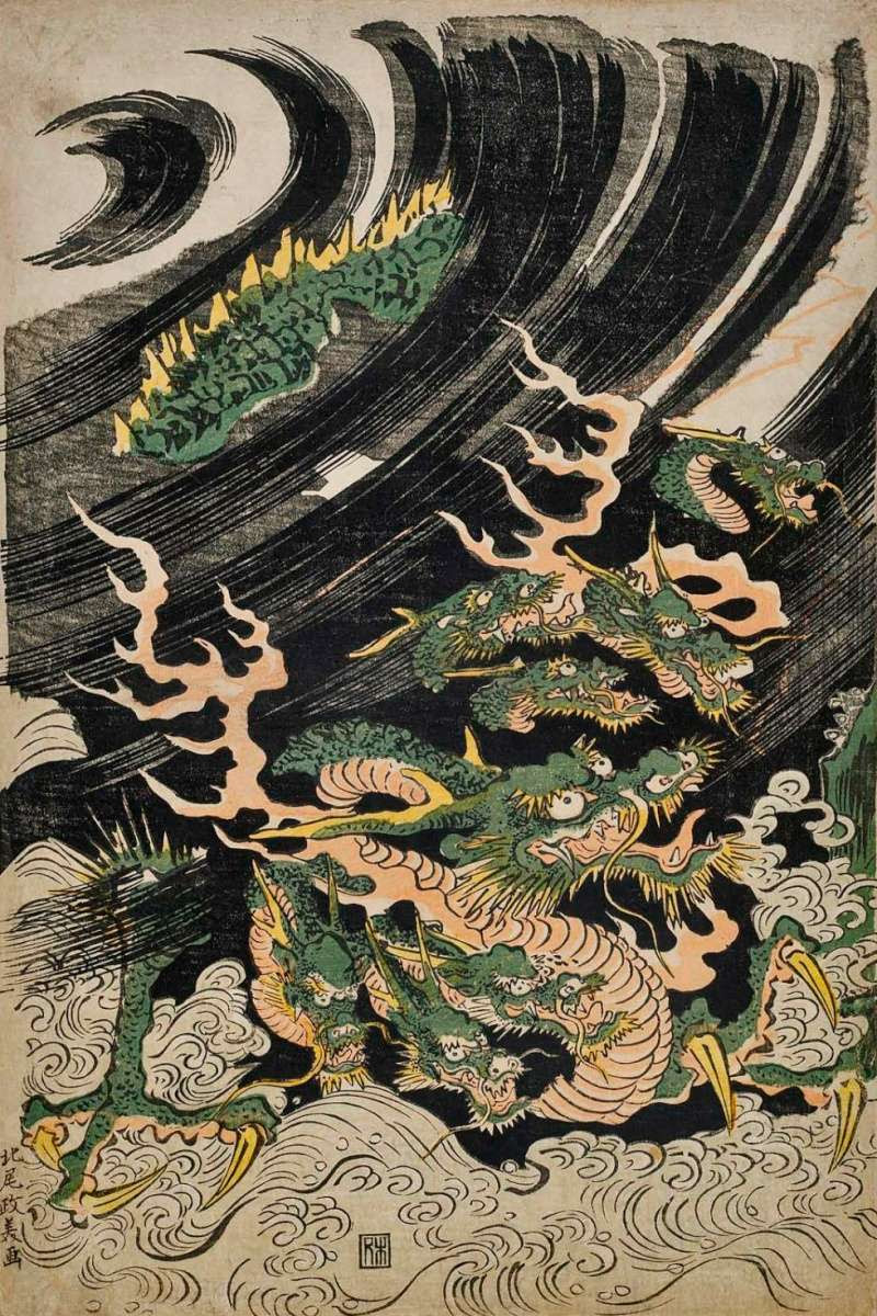 Dragon on Waves - Yamata no Orochi