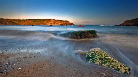 full hd wallpaper tide stone bay denmark sea desktop
