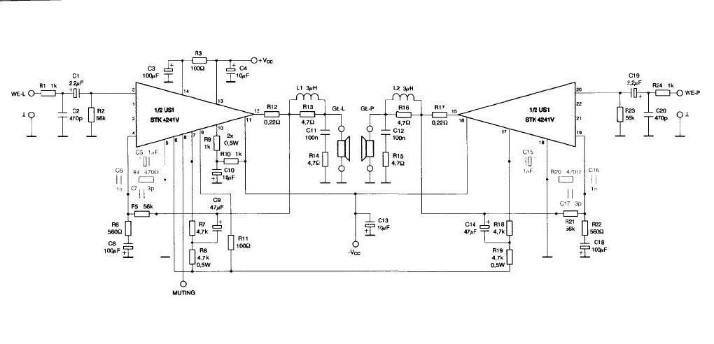 Stk4141 Amplifier Circuit Diagram