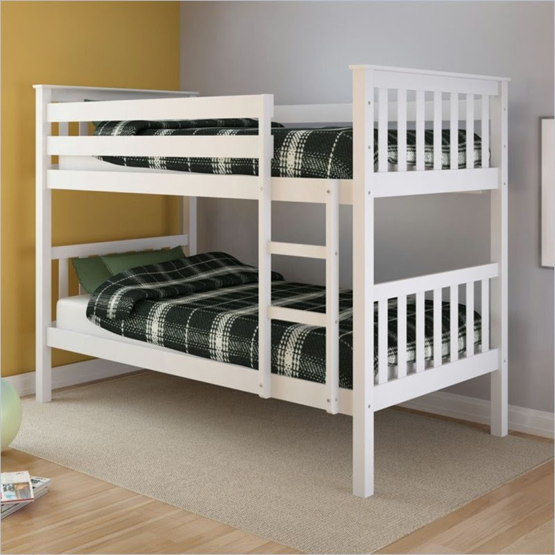 Sonax CorLiving Monterey Solid Wood Twin Bunk Bed White  eBay