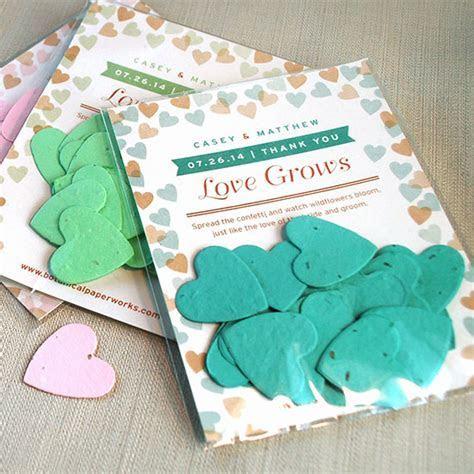 Flutter Heart Confetti Favor   Plantable Seed Wedding