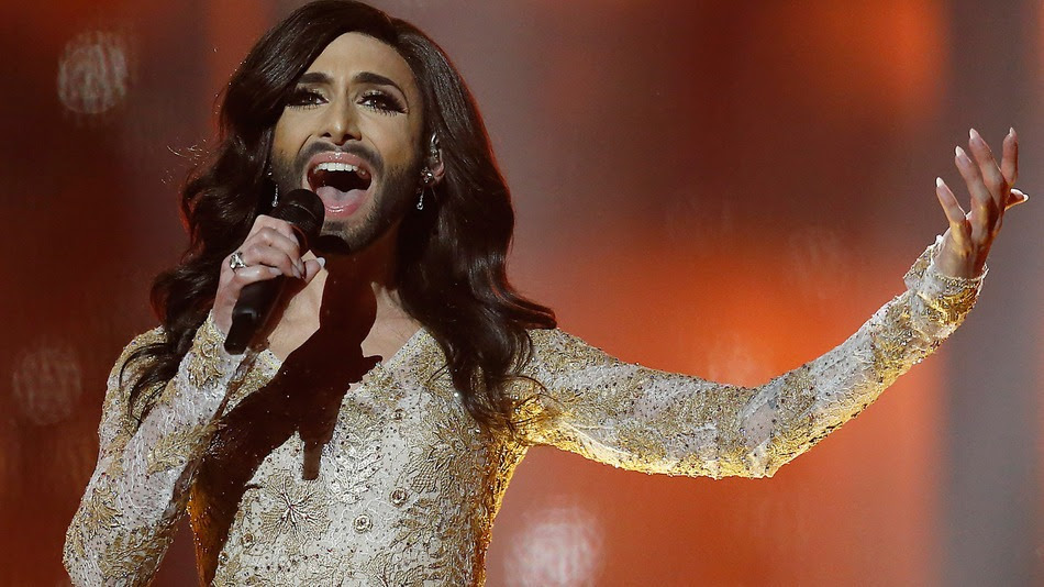 Conchita Wurst performing at Eurovision