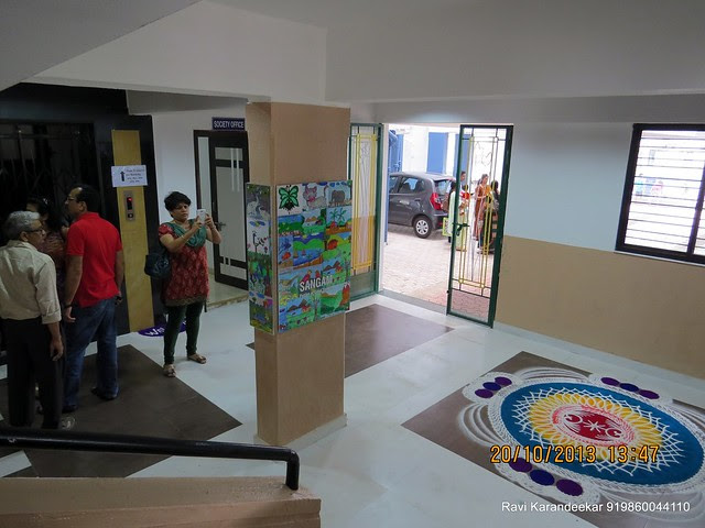 Entrance Lobby - Handing Over Ceremony of Sanjeevani Developers' Sangam at Sus on Sunday 20th October 2013