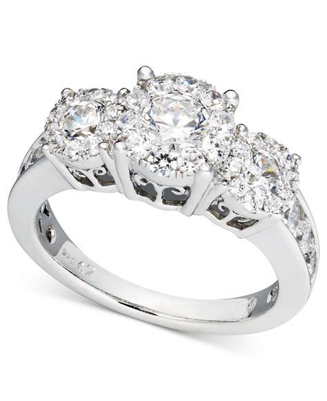 Macy's Diamond Engagement Ring And Wedding Band Bridal Set