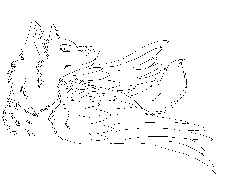 Angel Wolf Drawing at GetDrawings | Free download