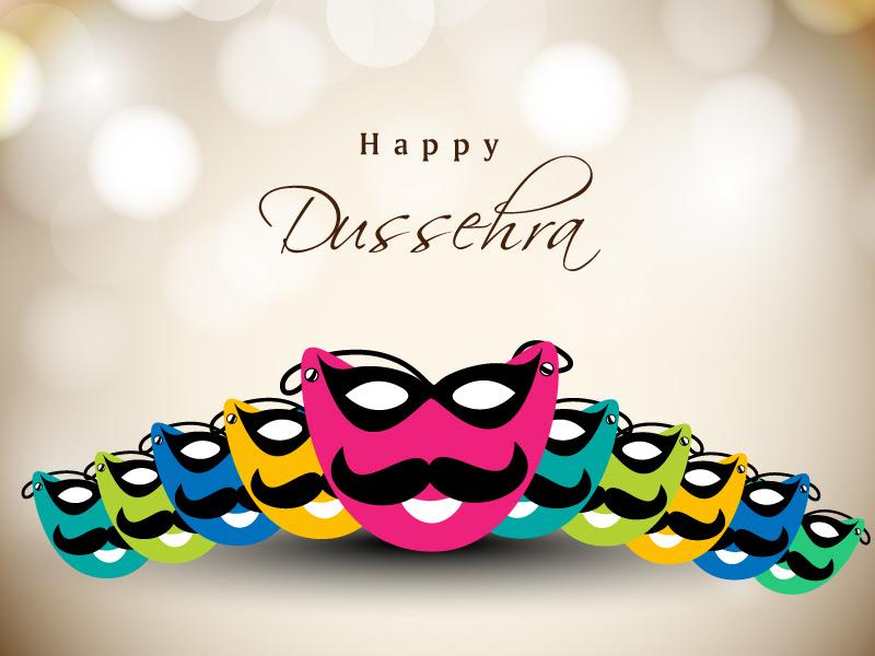 Happy Dussehra Mask Vector  Free Vector Graphic Download
